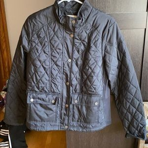 Black quilted jacket like new WORN ONCE